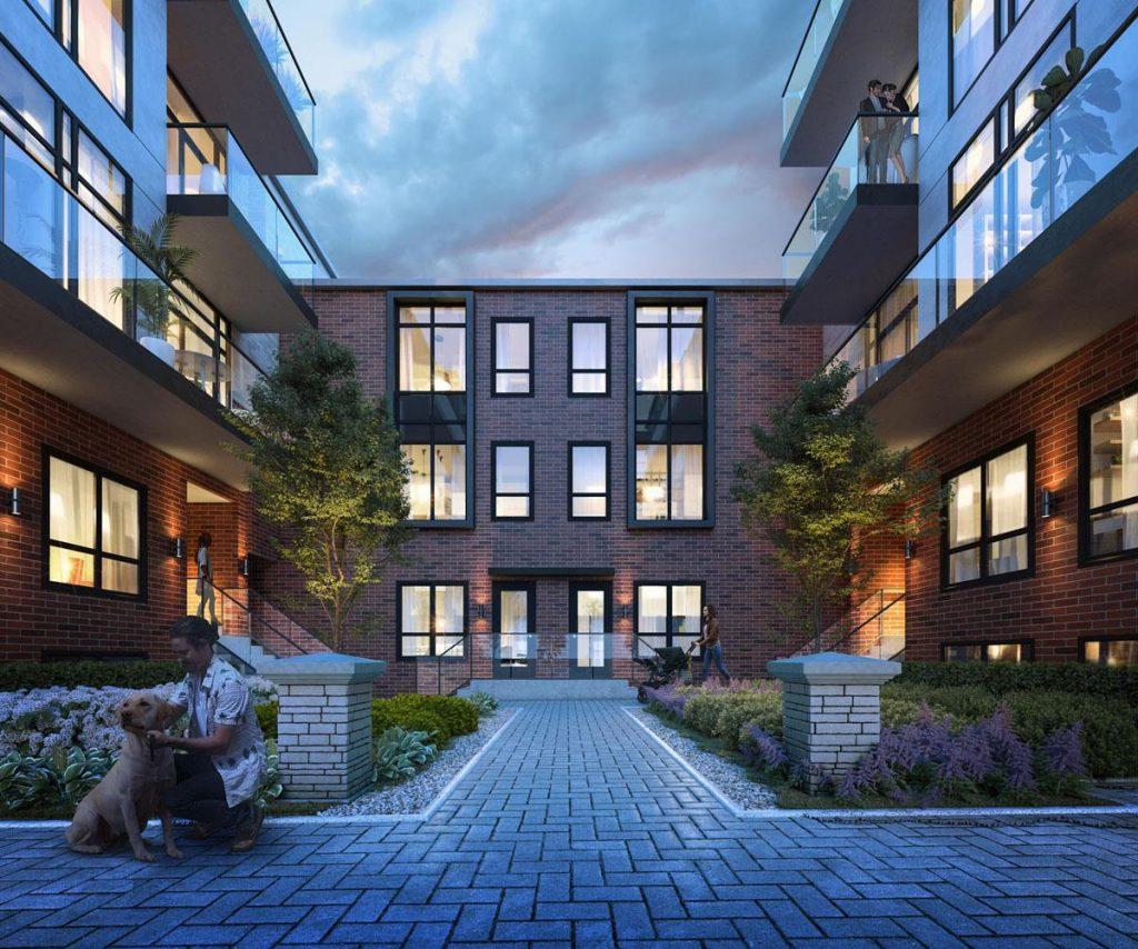 Greenwich village courtyard rendering