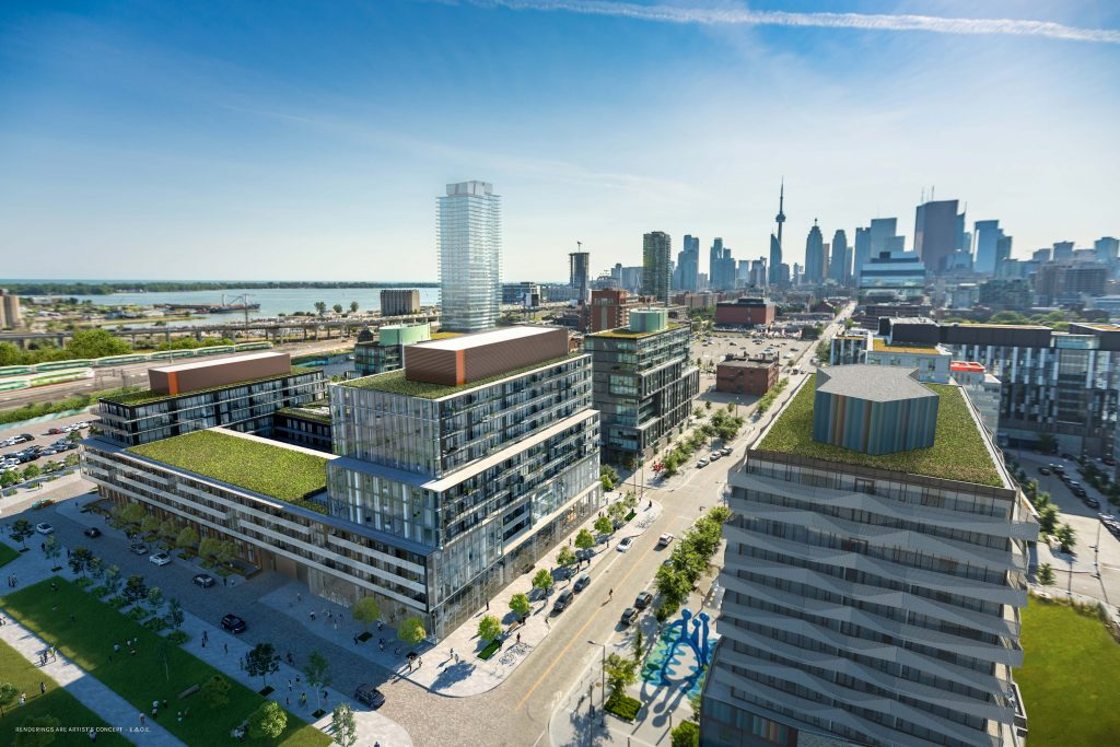 Exterior Aerial Rendering-Canary Commons Condos