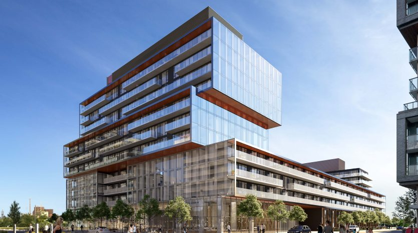 Exterior RENDERING-Canary Commons Condos-canary park district-475 front street east
