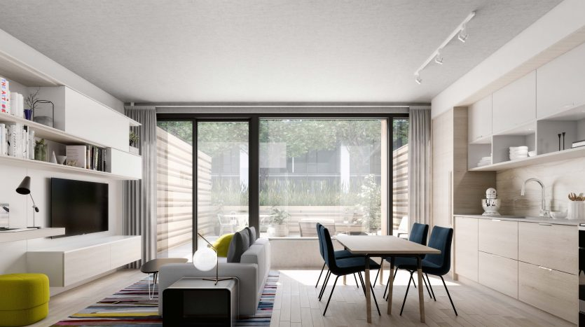 Interior Rendering-Canary Commons Condos