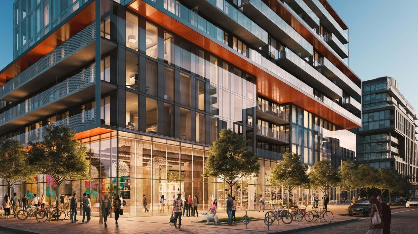 Podium Rendering-Canary Commons Condos