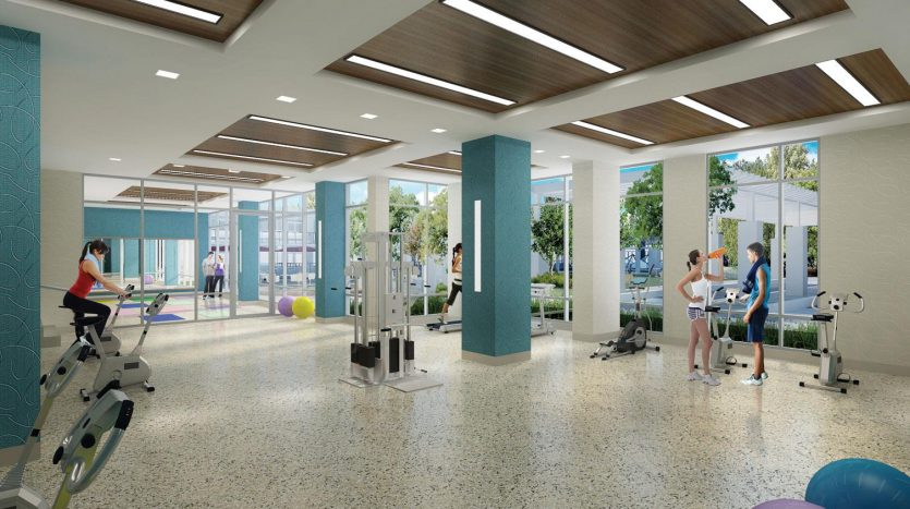 centro square condos gym
