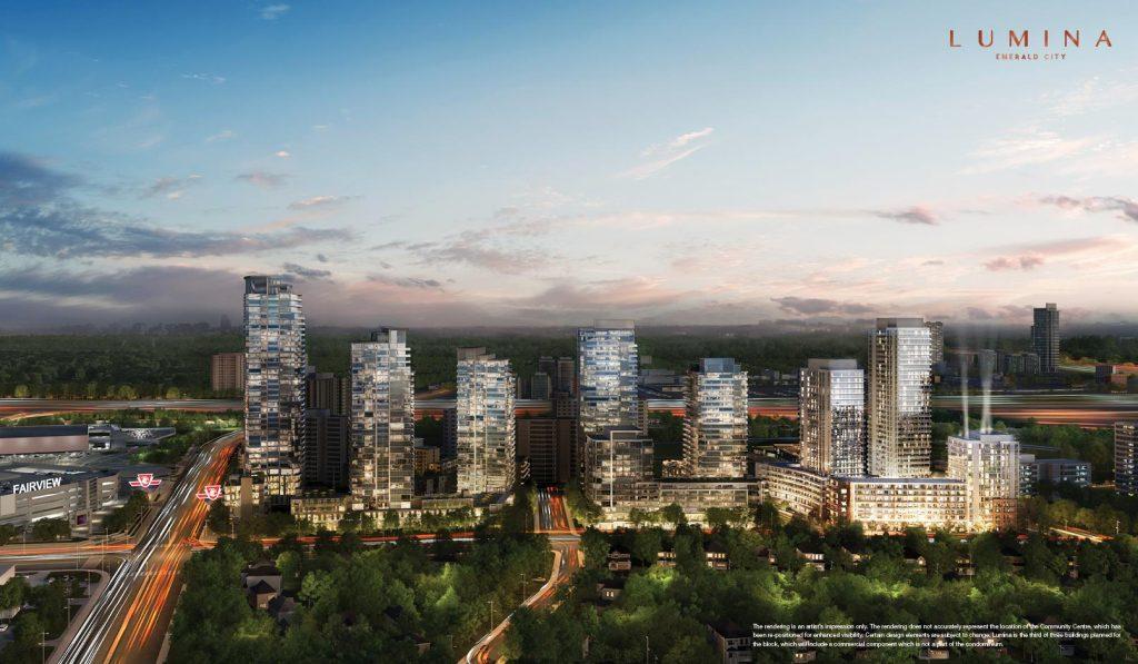 lumina condos at emerald city - site overview