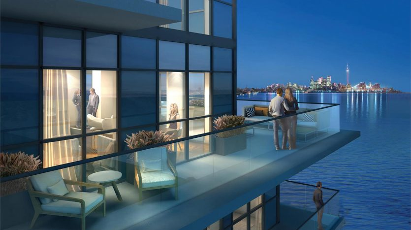 waters edge condos- balcony