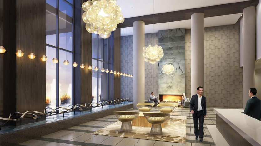 waters edge condos- lobby
