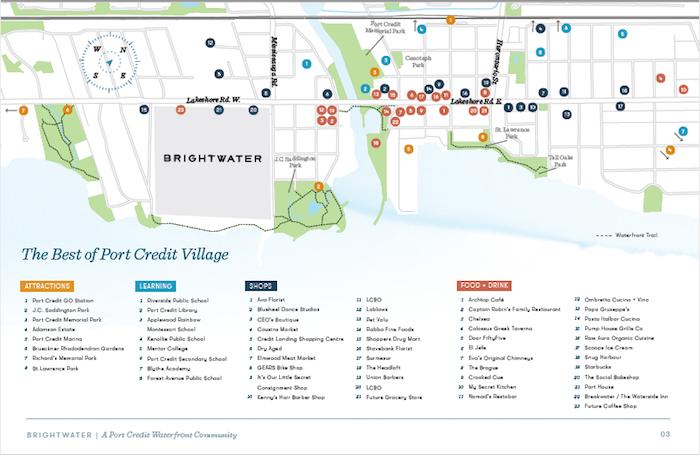 Brightwater-Port Credit Amenities