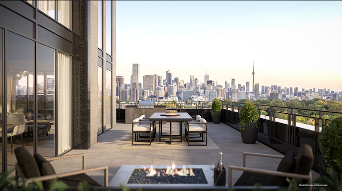 Forest Hill Private Residences - south terrace