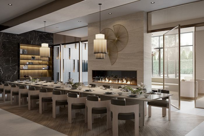 Forest Hill Private Residences - interior dining room
