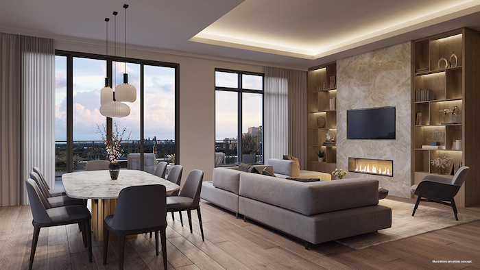 Forest Hill Private Residences - living room
