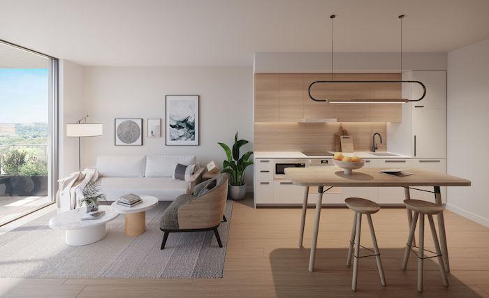 Queen Ashbridge Condos - Typical One Bedroom Suite