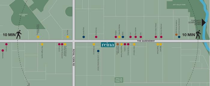 Reina Condos-site map