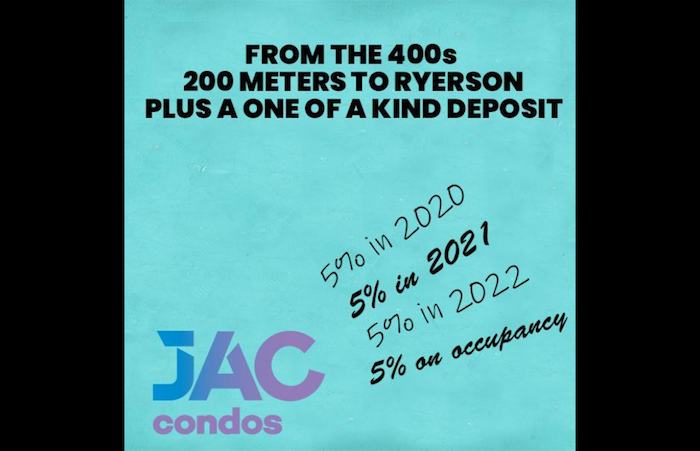 jac condos-deposit info