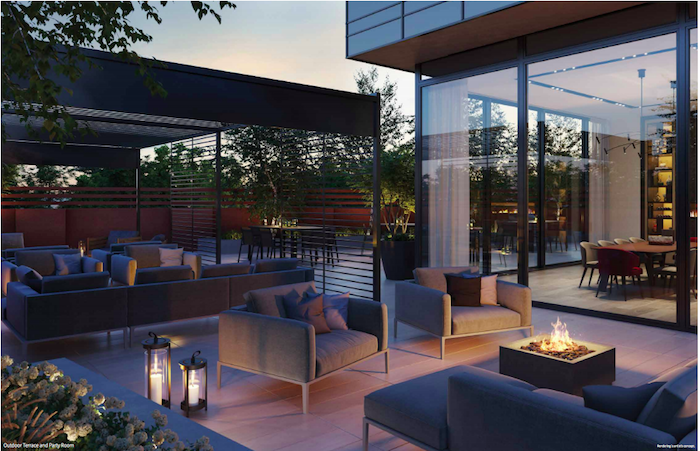 new upper jarvis condos-outdoor lounge