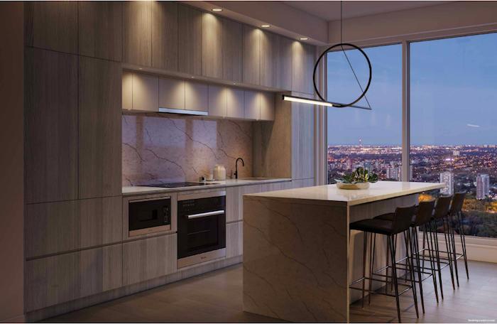 Burke Condos-penthouse kitchen