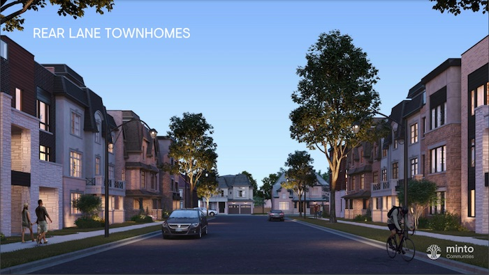 Union Village - rear lane townhomes