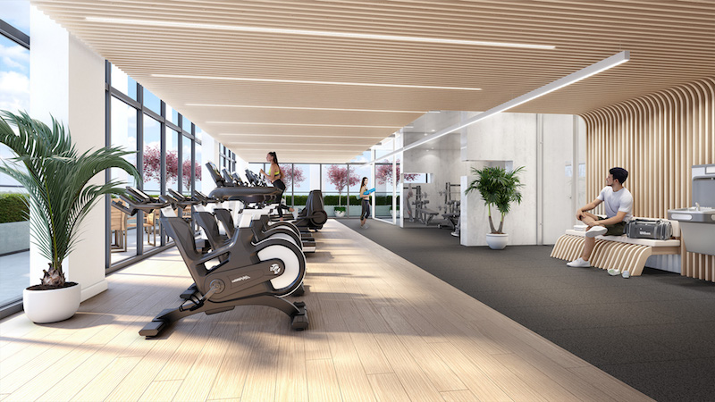 new willowdale condos-fitness centre