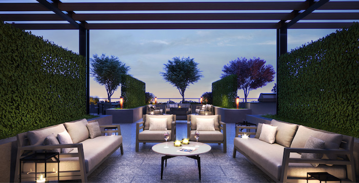 Westerly Condos - outdoor lounge