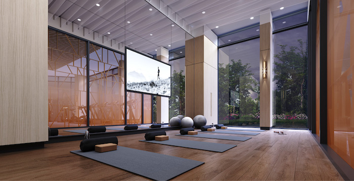 Westerly Condos - yoga space