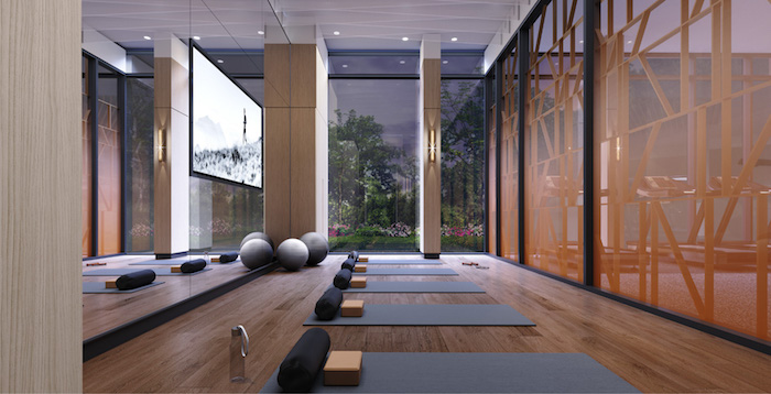 Westerly Condos - yoga studio 2