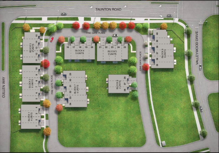 new townhomes in whitby-site plan