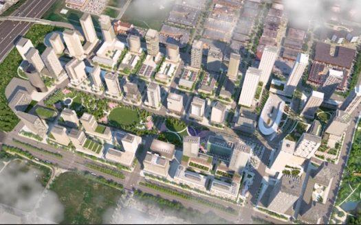 SmartVMC Condos - aerial view - smartliving condos vaughan metropolitan centre
