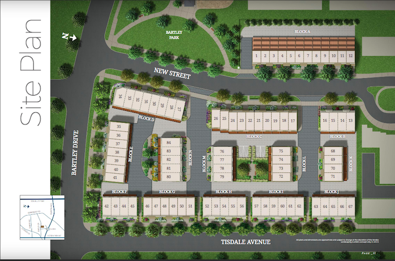 Bartley Towns-site plan