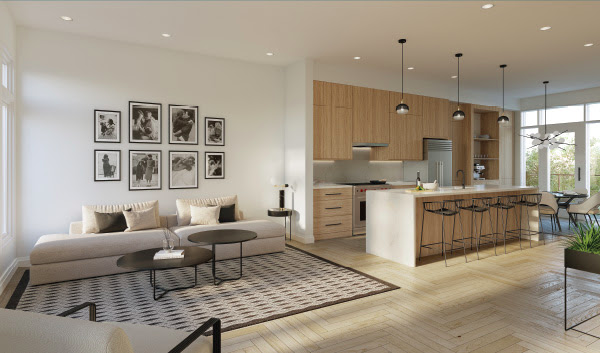 new townhomes in richmond hill - interior view