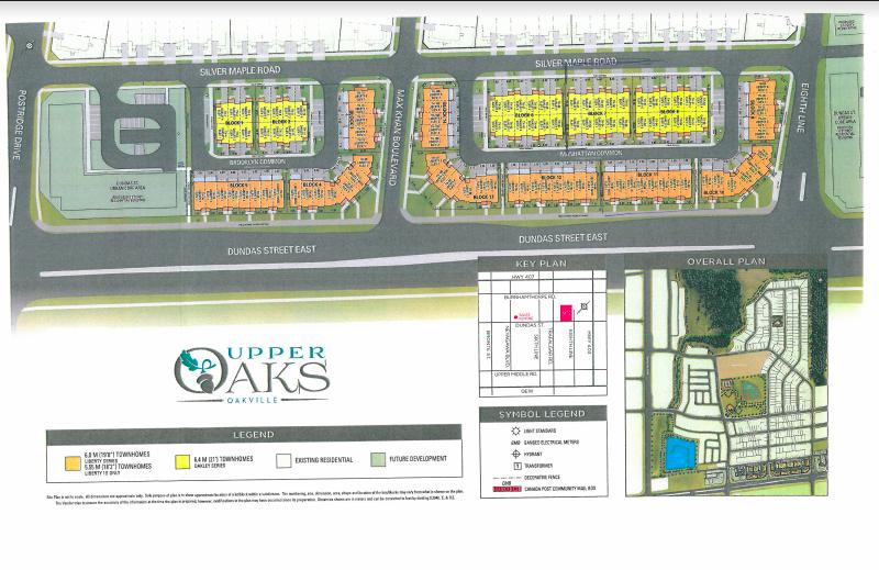upper oaks Towns-site plan