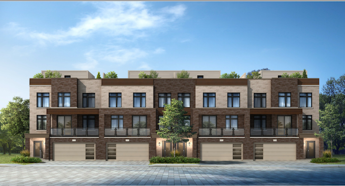 new pickering townhomes-street view 1