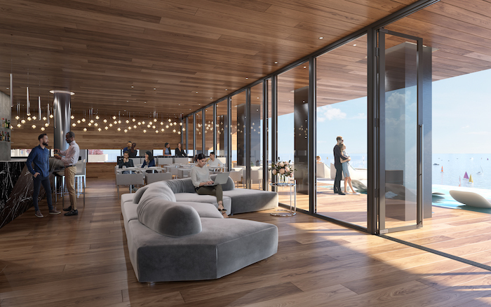 debut condos-restaurant with view