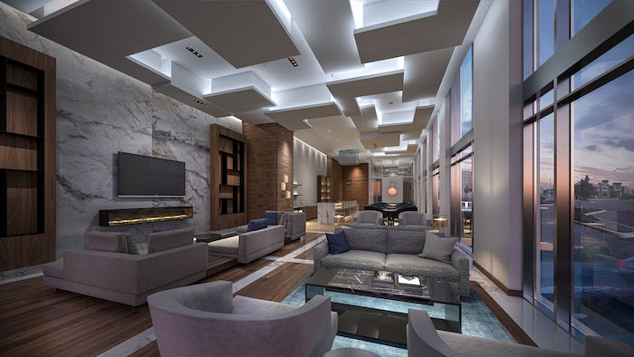 new uptown core condos-party room