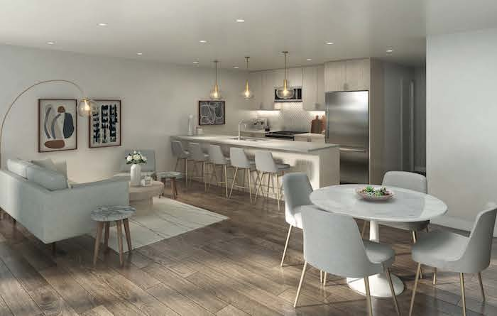 West Oak Urban Towns-stacked interior rendering 2