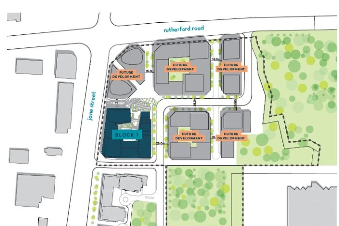 abeja district condos 3-site plan-new vaughan condos