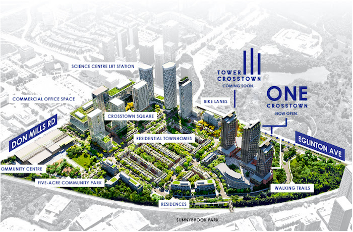 Crosstown III Condos - site map - 844 don mills road