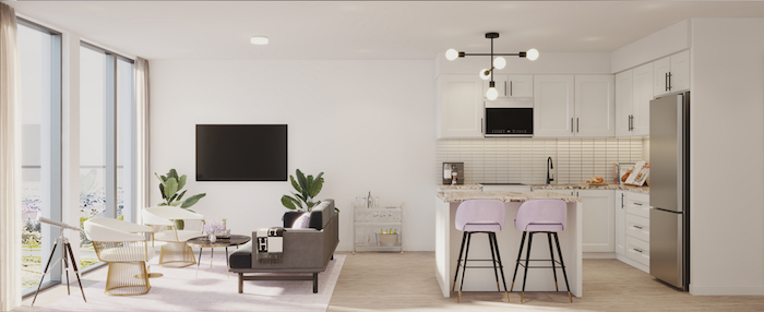 Nuvo Condos - Living-Kitchen