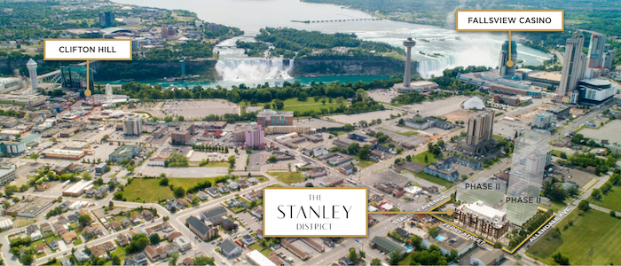 Stanley District Condos-aerial view-new niagara falls condos