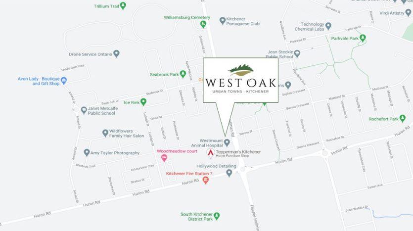 West Oak Urban Towns - Area Map