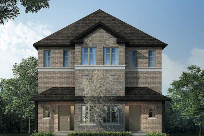 West Oak Urban Towns-4plex exterior rendering-new kitchener townhomes