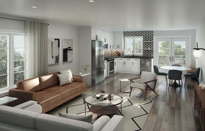 West Oak Urban Towns-4plex interior rendering-new kitchener townhomes