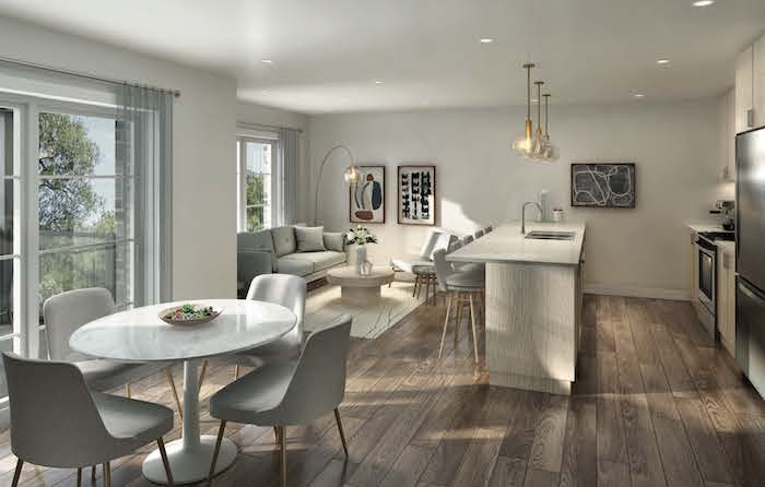 west oak urban towns-stacked interior rendering-new kitchener townhomes