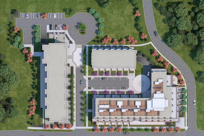 Mill Landing Condos - aerial map - new georgetown condos