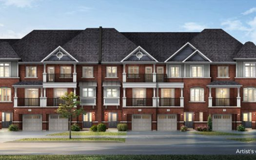 Boatworks Towns-front view-new whitby townhomes
