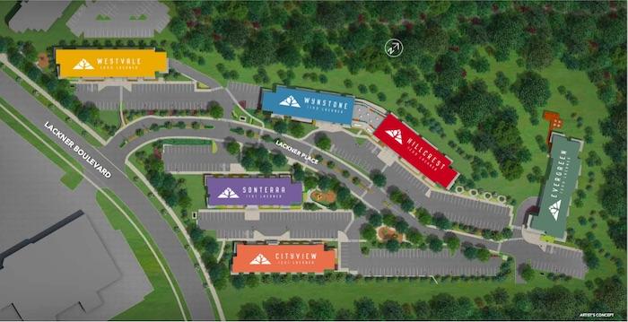 Lackner Ridge Condos - site plan