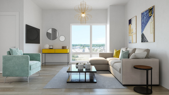 Presto Modern Towns-living room-new malvern townhomes