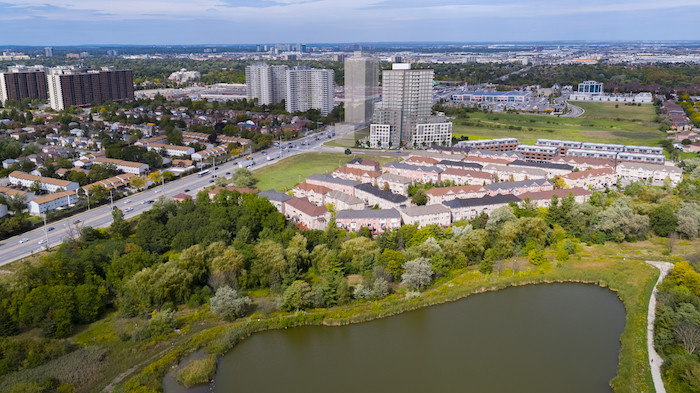 Stella at Southside Condos-aerial view
