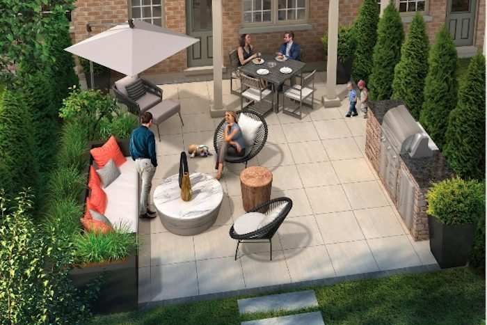 Village Green Towns - patio