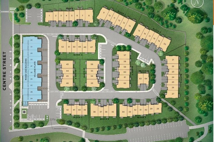 Village Green Towns - site map - east gwillimbury townhomes