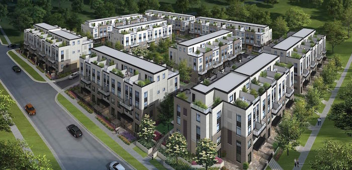 Aerial View - Crawford Urban Towns - new milton townhomes