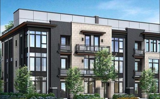 Crawford Urban Towns - street view 1 - new townhomes milton