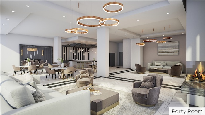 Nahid Kennedy Condos - party room - 615 kennedy road